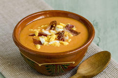 Spanish Cuisune. Salmorejo. Stock Photo