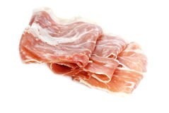 Spanish Cured Ham Isolated On White Stock Images