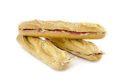 Spanish cured ham sandwichs Royalty Free Stock Photos