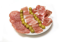Spanish cured meat tapas Royalty Free Stock Photography
