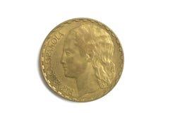 Spanish currency, Republica Española, una peseta , 1937 Stock Photography