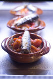 Spanish cusine tapas dishes in restaurant cafe Stock Images