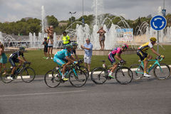 Spanish cycling tour  La Vuelta Royalty Free Stock Images