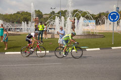 Spanish cycling tour  La Vuelta Stock Image