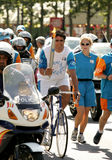 Spanish cyclist Miguel Indurain Royalty Free Stock Image