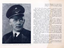 spanish cywilna wojna Książkowy ` generała Von Richthofen ` obraz stock
