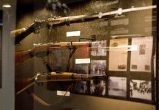 spanish cywilna wojna Różnorodne amunicje znajdować w okopach obrazy stock