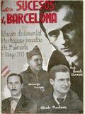 spanish cywilna wojna Rezerwuje na wydarzeniach Barcelona, Maj 1937 obrazy stock