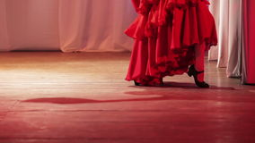 Spanish dance on stage stock footage