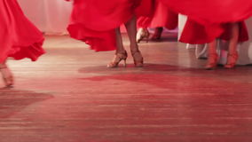 Spanish dance on stage stock video footage