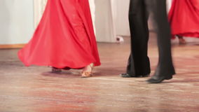 Spanish dance on stage. On stage legs dancing ballet single stock footage