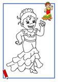 Spanish dancer to be color stock photo