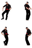 The spanish dancer in various poses on white Royalty Free Stock Photos