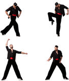 The spanish dancer in various poses on white Stock Photography