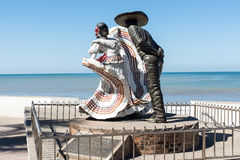 Spanish Dancers. Statue of dancers on the Malecon in Puerto Vallarta Royalty Free Stock Image