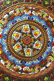 Spanish hand painted plate Royalty Free Stock Photo
