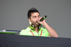 Spanish Deejay at Primavera Pop Festival of Badalona Royalty Free Stock Photos