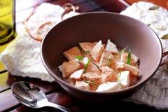 Spanish desserts pomelo meringue Royalty Free Stock Image