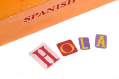 Spanish dictionary stock photography