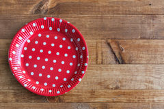 Spanish dishes with red polka dots Stock Photography
