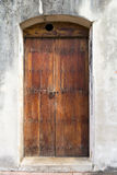 Spanish door. Charming old Spanish door with a door knocker in San Juan, Puerto Rico Royalty Free Stock Image