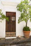 Spanish door Royalty Free Stock Image