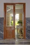 Spanish door. Image taken of a traditional door in Monda, Malaga province, Spain Stock Images