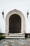 Spanish Doorway. A doorway entrance on a spanish-style house Royalty Free Stock Image