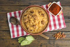 Spanish double-mashed or bobbed potatoes Royalty Free Stock Image