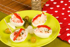 Spanish egg tapa Royalty Free Stock Photography