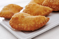Spanish empanadillas, small meat or tuna pies Royalty Free Stock Images