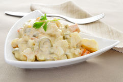 Spanish ensaladilla rusa, russian salad Royalty Free Stock Images