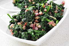 Spanish espinacas con jamon, spinach with ham Stock Images