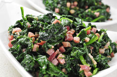 Spanish espinacas con jamon, spinach with ham Royalty Free Stock Image