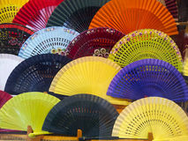 Spanish fan. Image of various spanish traditional folding fans Stock Image