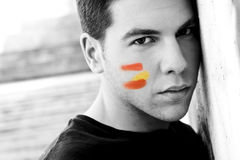 Spanish fan in black and white Stock Photos