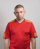 Spanish fan after a loss. And looking at camera Royalty Free Stock Images