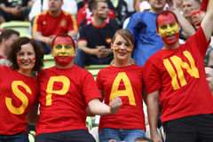 Spanish fans Royalty Free Stock Photo