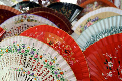 Spanish Fans. Close up of Spanish Fans in El Rastro Flea market in Madrid, Spain Stock Photography