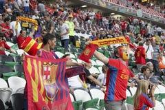 Spanish fans in Donetsk Royalty Free Stock Photos