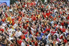 Spanish fans. 11.07.2010 Royalty Free Stock Photos