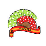 Spanish fans Stock Photo