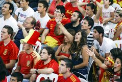 Spanish fans. 11.07.2010 Royalty Free Stock Image