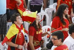 Spanish fans. 11.07.2010 Stock Photography