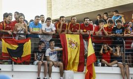 Spanish fans. 11.07.2010 Royalty Free Stock Images