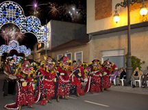 Spanish Fiesta - Costa Blanca - Spain. Moros Cristianos (Moors & Christians) Fiesta de la Santisima Cruz in the town of Granja de Rocamora in the Costa Blanca Stock Photography