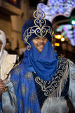 Spanish Fiesta - Costa Blanca - Spain. Moros Cristianos (Moors & Christians) at the Fiesta de la Santisima Cruz in the town of Granja de Rocamora in the Costa Royalty Free Stock Photography