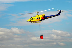 Spanish firefighter helicopter royalty free stock photos