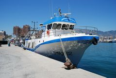 Spanish fishing boat, Fuengirola. Stock Photo