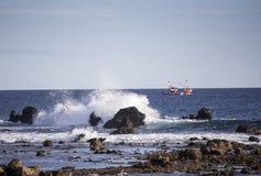 Spanish fishing boat Stock Photo